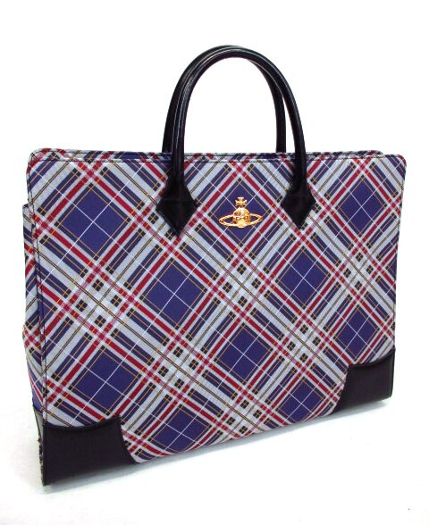 Vivienne Westwood タータンチェックプレーンバッグ