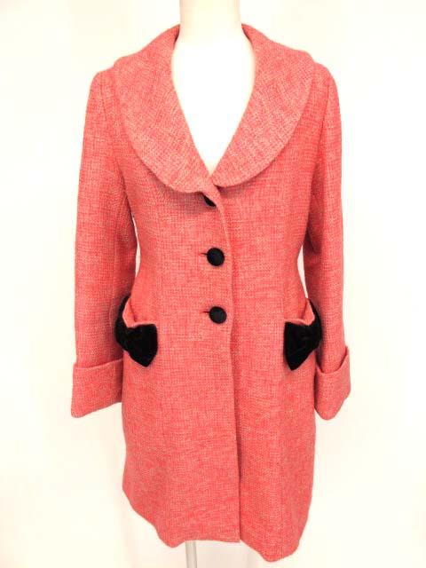 Jane Marple 別珍リボン付きツイードコート
