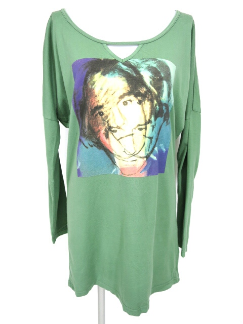 Andy Warhol by HYSTERIC GLAMOUR 顔プリント長袖Tシャツ
