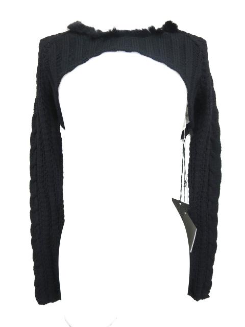 alice auaa ファー付きショート丈ニットセーター