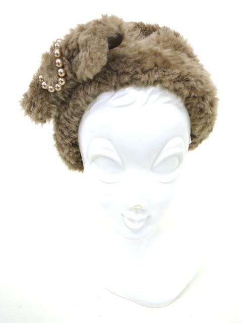 Jane Marple フェイクファーベレー帽
