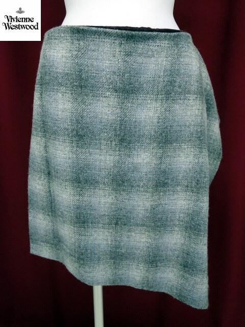 Vivienne Westwood RED LABEL チェックツイード重ね別珍スカート