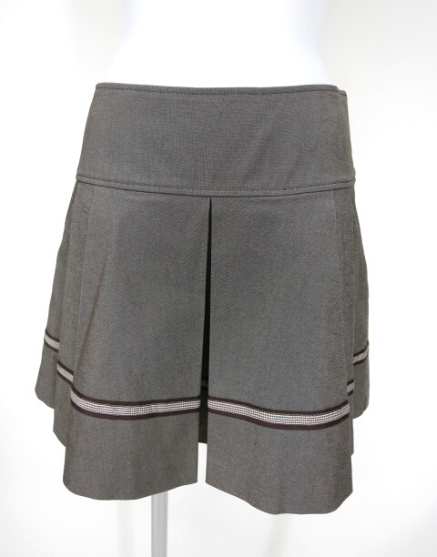 Emily Temple cute ギンガムチェックライン入りプリーツスカート