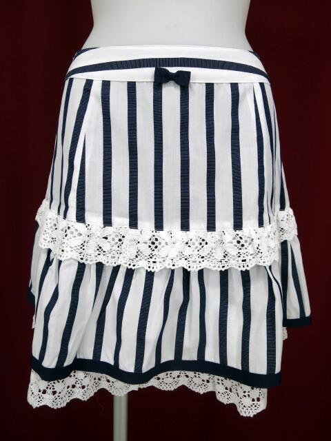 Emily Temple cute レース付きストライプスカート