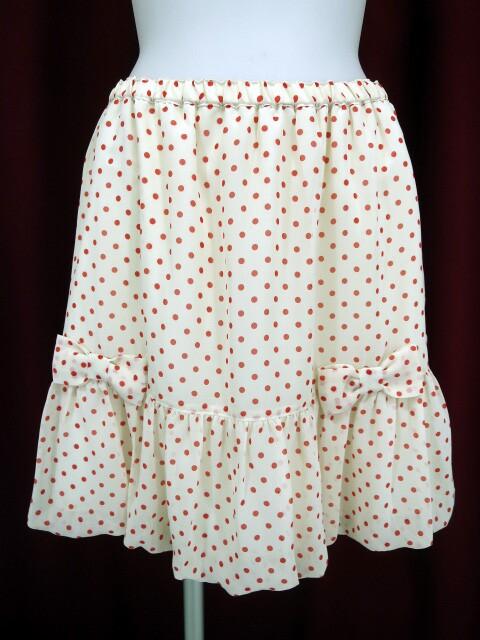 Emily Temple cute ドットシフォンスカート