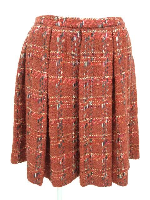 Jane Marple Dans le Salon ラメツイードチェック柄スカート