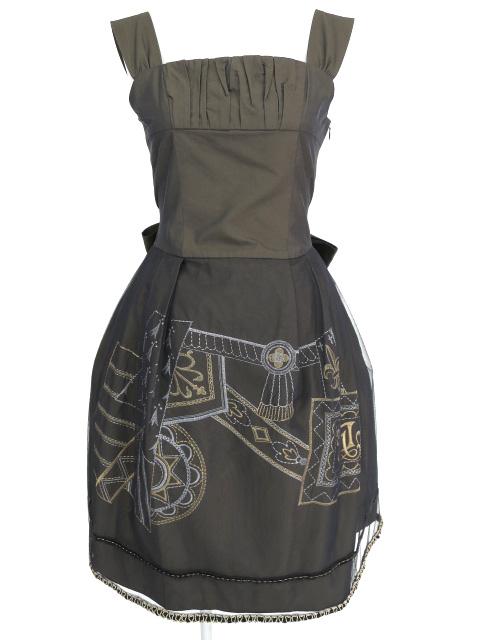 Jane Marple エンブロイダリージャンパースカート