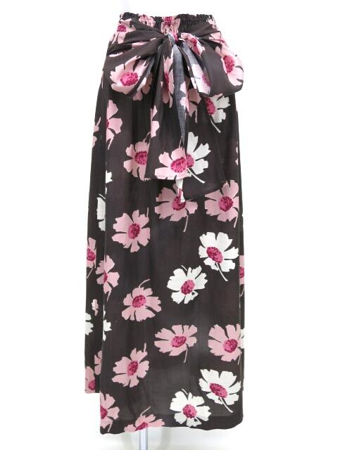 Jane Marple Dans le Salon 花柄シャーリングロングスカート