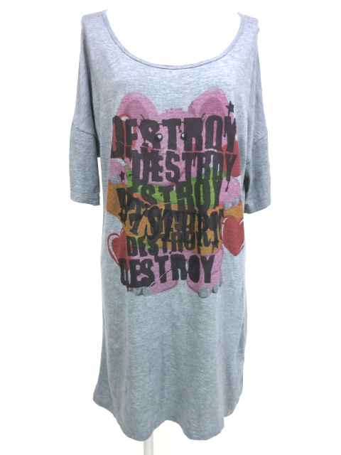 HYSTERIC GLAMOUR ゾウプリントビッグTシャツ