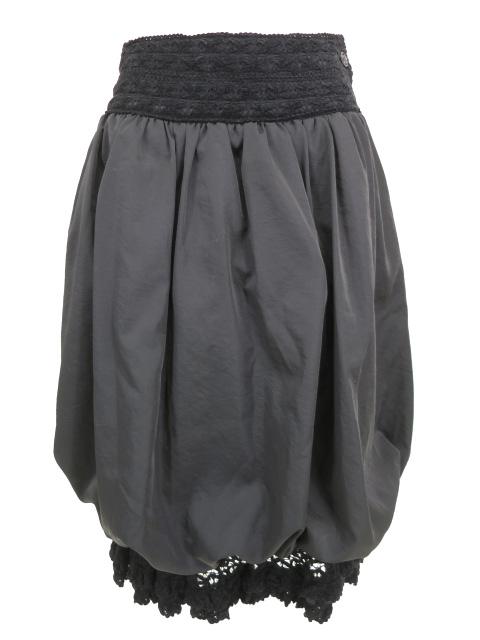 alice auaa 裾レース付きバルーンロングスカート