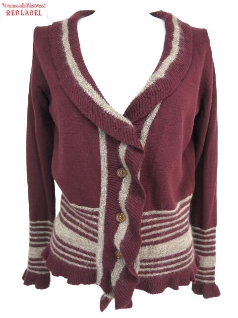 Vivienne Westwood RED LABEL オーブ刺繍入りフリルカーディガン