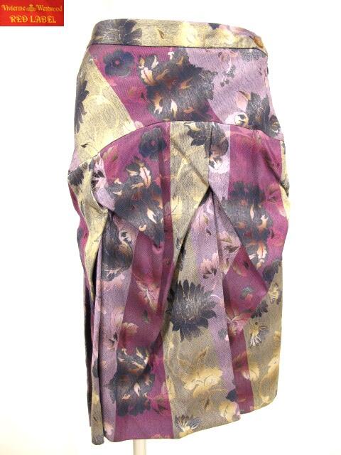 Vivienne Westwood RED LABEL 和柄ジャガード織りスカート