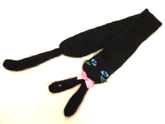Shirley Temple 黒猫ティペットマフラー