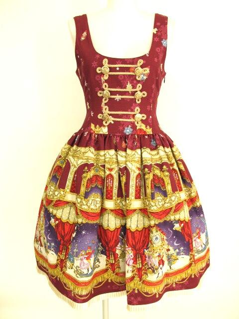 ALICE and the PIRATES 雪降る聖夜の不思議な贈り物柄ナポレオンジャンパースカート