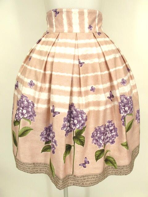 Innocent World 紫陽花と蝶のスカート