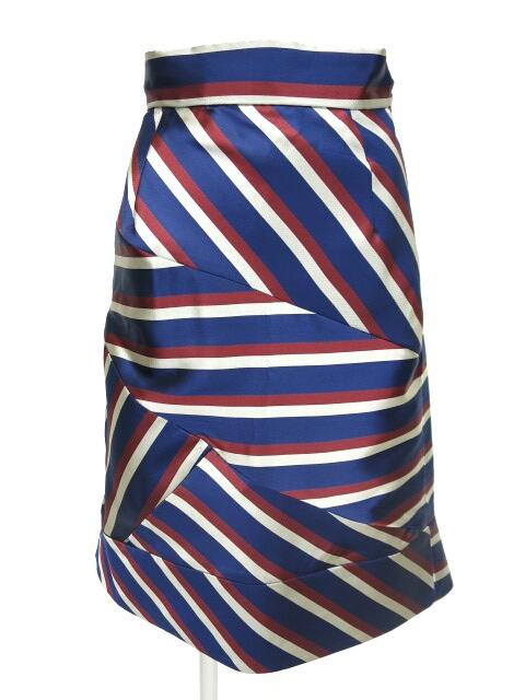 Jane Marple Dans le Salon レジメンストライプスカート