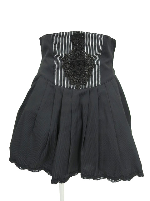 BPN ストライプハイウエストスカート