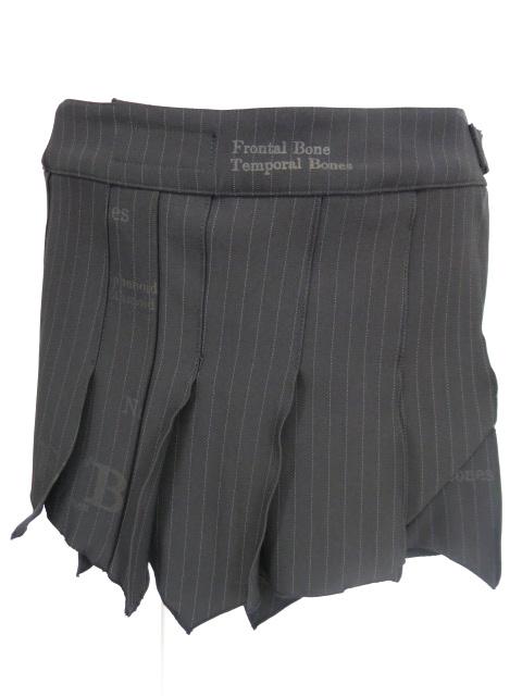h.ANARCHY 裾ギザギザストライププリーツ巻きスカート