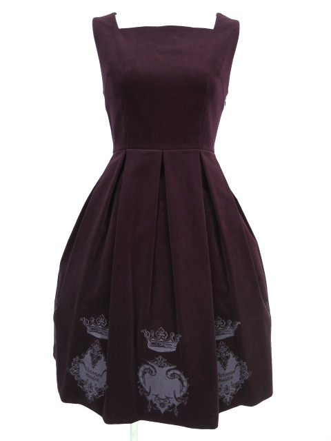 Victorian maiden / 別珍王冠トランプジャンパースカート