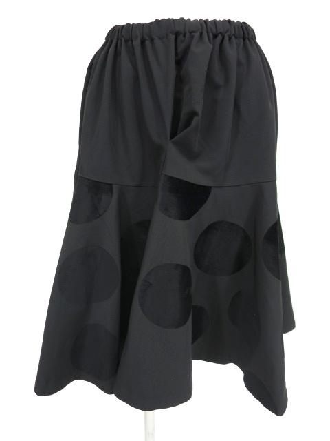 KUNIKUNI / ドットフロッキープリントスカート