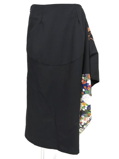 gouk / 和柄切替ロングスカート
