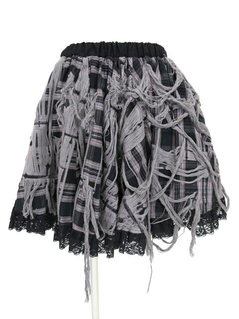 NAOTO SEVEN クロス&チェック柄スカート