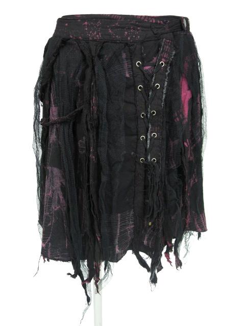 DARK RED RUM H.jelly ネットプリントスカート