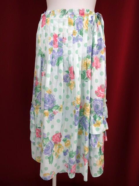 Jane Marple Dans Le Salon ローズ&ドット柄スカート