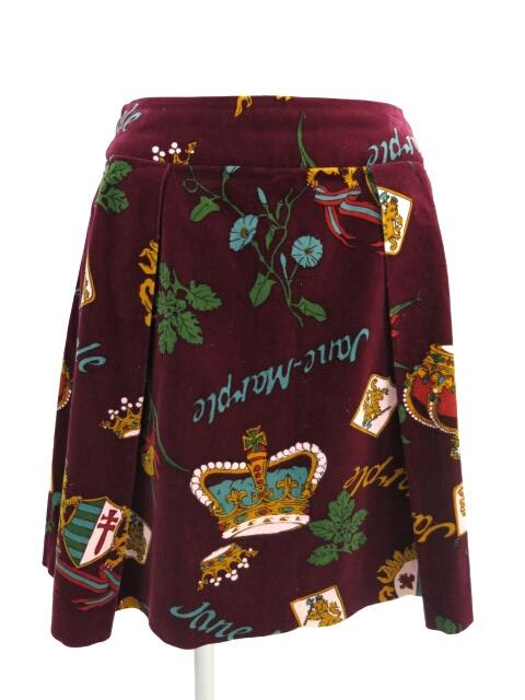 Jane Marple 王冠&エンブレム柄別珍スカート