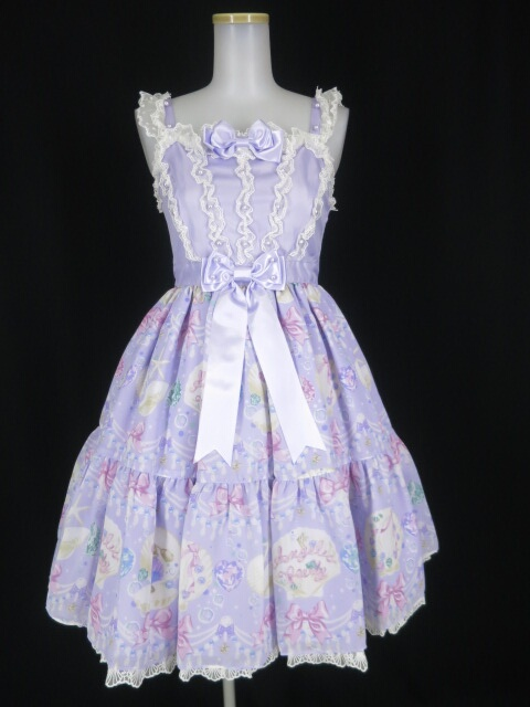 Angelic Pretty Jewel Marineティアードジャンパースカート