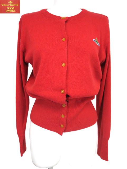 Vivienne Westwood RED LABEL オーブ刺繍入りニットカーディガン