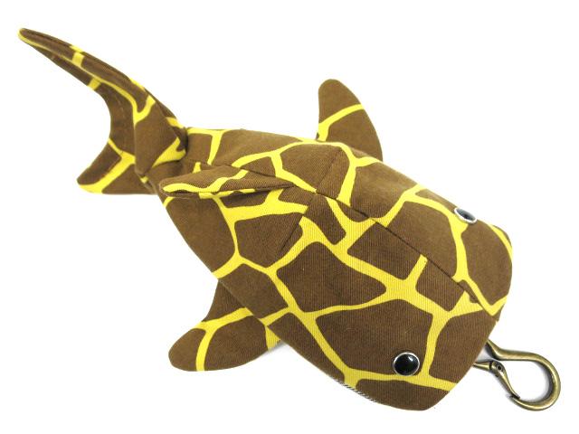 KASEI キリン柄 鮫ポーチ