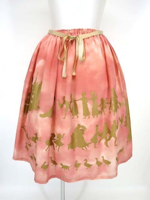 Jane Marple Golden gooseプリントのドレススカート