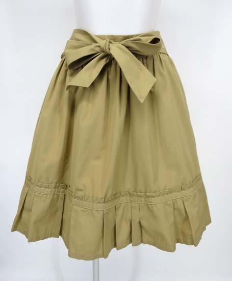 Jane Marple 裾プリーツ リボンスカート