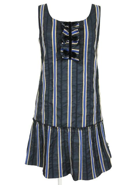 Emily Temple cute レジメンタルストライプジャンパースカート