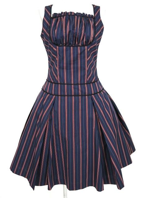 Victorian maiden レジメンタルストライプジャンパースカート