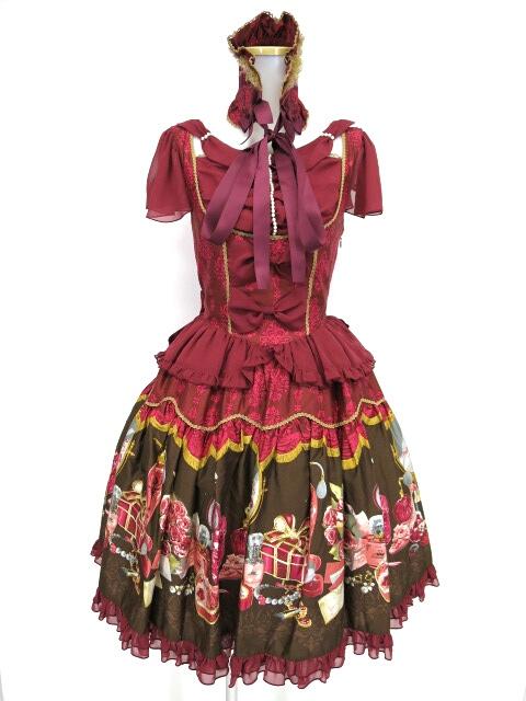 Metamorphose Dress roomシフォンドレープジャンパースカート&ヘッドドレス セット