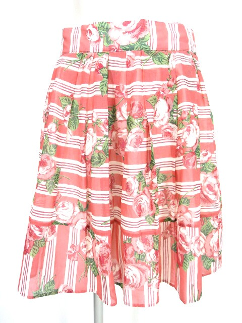 Jane Marple ウォールペーパーローズブーケのミニスカート