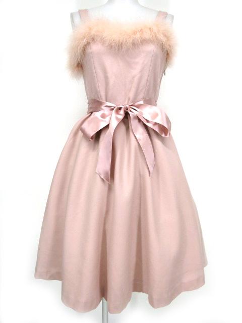 Jane Marple フェザー付きジャンパースカート