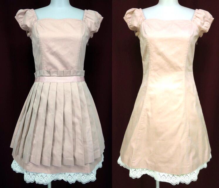 Jane Marple プリーツスカート付きワンピース