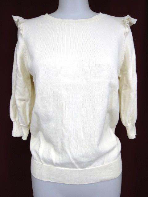 franche lippee black 肩フリル付きニットセーター