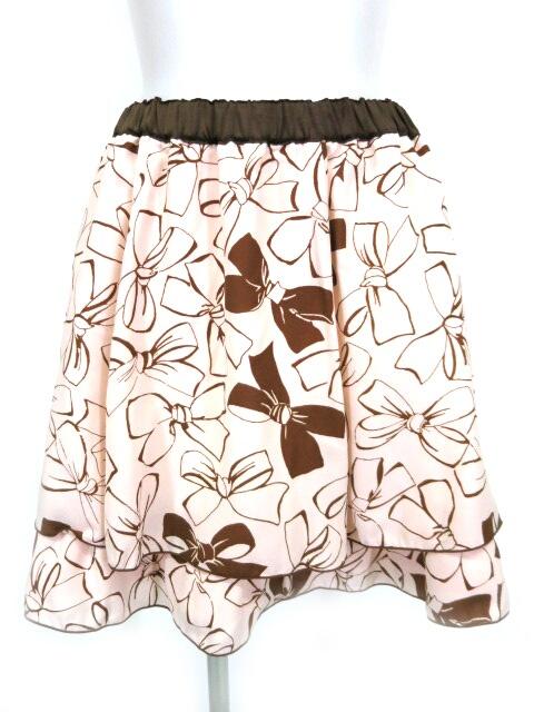 Emily Temple cute ショコラリボンプリントスカート