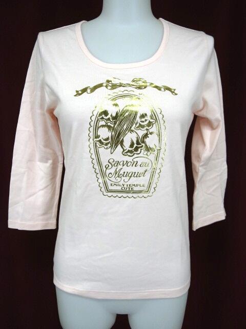 Emily Temple cute すずらんプリント七分袖Tシャツ