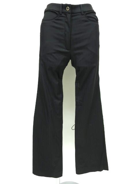 ATELIER BOZ 裾編み上げ付きジャガードストライプブーツカットパンツ