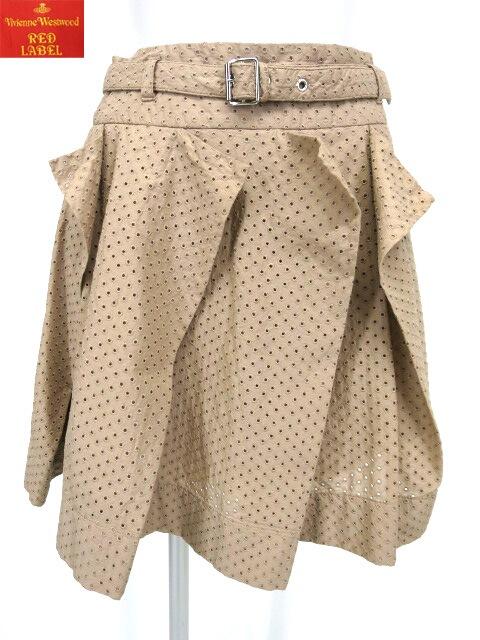 Vivienne Westwood RED LABEL ドット刺繍アシンメトリープリーツスカート
