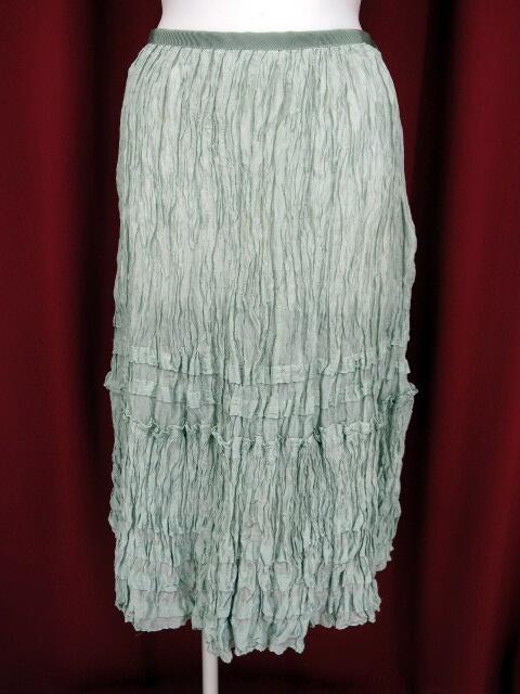 Jane Marple Dans le Salon しわ加工シルクロングスカート