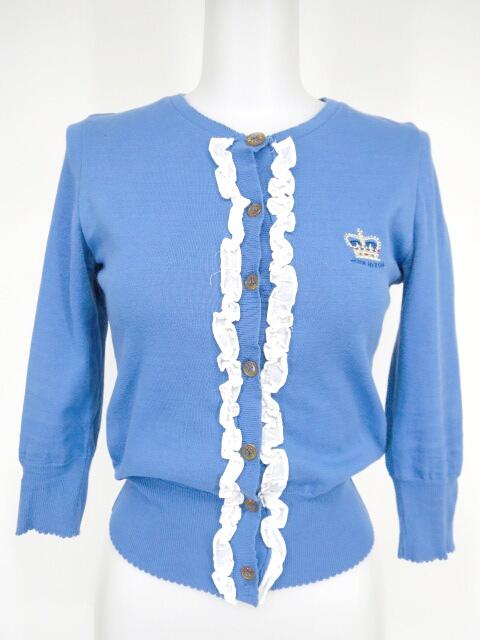 Jane Marple 王冠刺繍入り フリル付きカーディガン