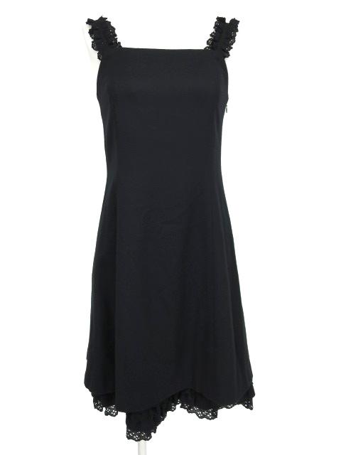 Jane Marple 裾フリルウールジャンパースカート