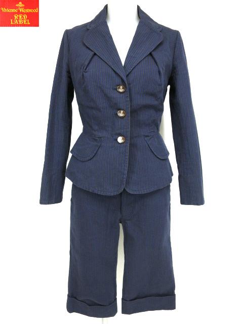 Vivienne Westwood RED LABEL ストライプベッティーナジャケット&七分丈パンツ セットアップ