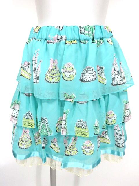 Emily Temple cute アソートケーキプリントスカート